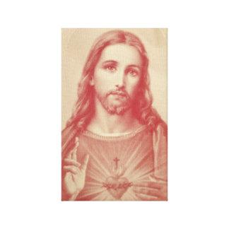 イエス・キリストのキャンバスプリントのヴィンテージの神聖なハート キャンバスプリント
