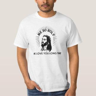 イエス・キリストのキリスト教の生まれ変わる「そう私HOLY Tシャツ