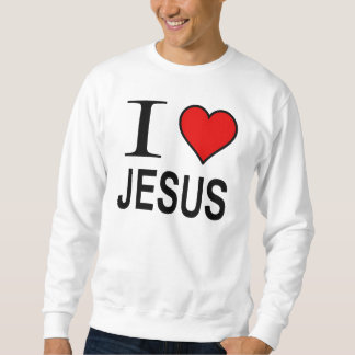 イエス・キリストのギフトはIスエットシャツのイエス・キリストのロゴを愛します スウェットシャツ