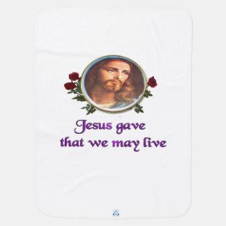 イエス・キリストのクリスチャンのギフト ベビー ブランケット