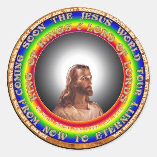 イエス・キリストのステッカー ラウンドシール