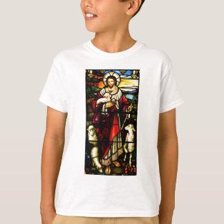 イエス・キリストのステンドグラスよい羊飼い Tシャツ