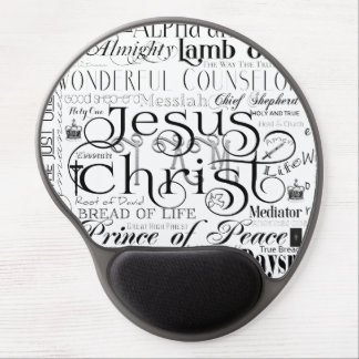 イエス・キリストのタイポグラフィのゲルのマウスパッドの名前 ジェルマウスパッド