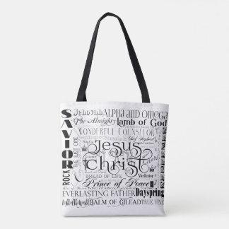 イエス・キリストのタイポグラフィのトートバックの名前 トートバッグ