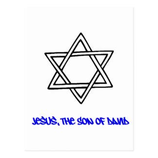 -イエス・キリストのデイヴィッドの息子ダビデの星 ポストカード