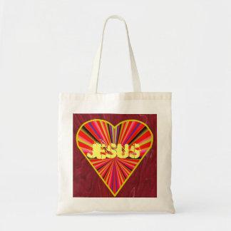 イエス・キリストのハートのバッグ トートバッグ