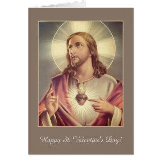 イエス・キリストのハートのバレンタインの神聖なハート カード