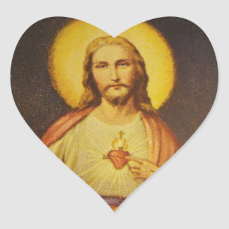 イエス・キリストのハート形のステッカーの神聖なハート ハートシール