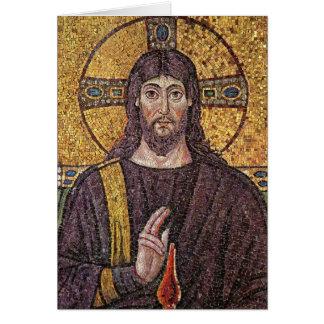 イエス・キリストのモザイク宗教空白のなカードの写真 カード