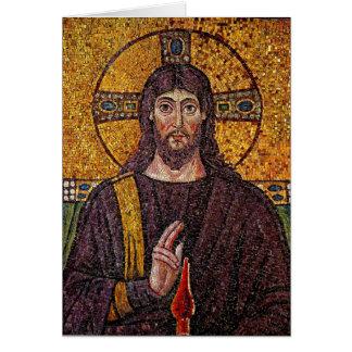 イエス・キリストのモザイク挨拶状 カード