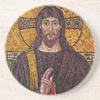 イエス・キリストのモザイク飲むコースター コースター
