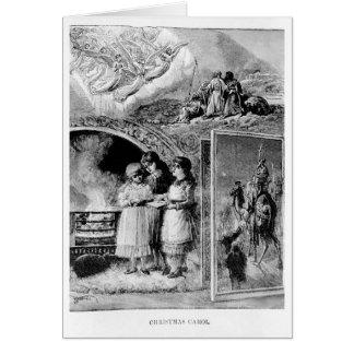 イエス・キリストのヴィンテージのクリスマスキャロルのビクトリアンな誕生 グリーティングカード
