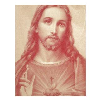 イエス・キリストのヴィンテージの神聖なハート レターヘッド