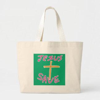 イエス・キリストの保存のバッグ ラージトートバッグ