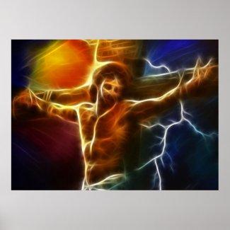 イエス・キリストの充電のはりつけ ポスター