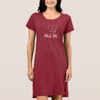 イエス・キリストの十字のハートのTシャツの服のクリスチャンの女性 ドレス