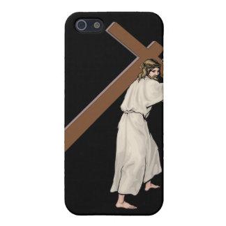 イエス・キリストの十字はAppleのiPhone 4のための堅い言い分に合いました iPhone SE/5/5sケース