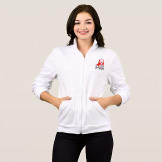 イエス・キリストの女性のフリースのジッパーの揺れのジャケット