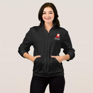 イエス・キリストの女性の暗いフリースのジッパーの揺れのジャケット