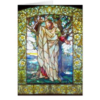 イエス・キリストの山上の垂訓-ステンドグラス カード