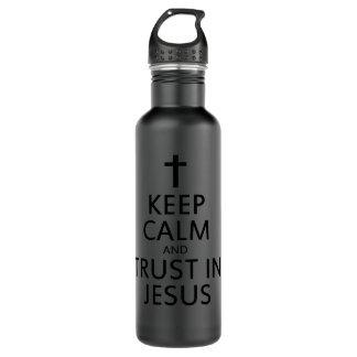 イエス・キリストの平静そして信頼を保って下さい ウォーターボトル