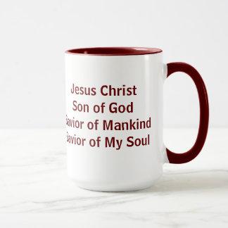 イエス・キリストの救助者の魚の記号 マグカップ
