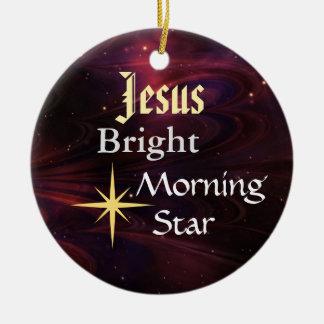 イエス・キリストの明けの明星のカスタマイズオーナメント セラミックオーナメント
