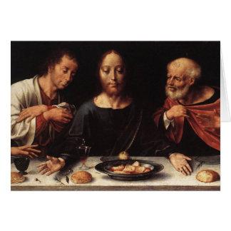 イエス・キリストの最後の晩餐の挨拶状 カード