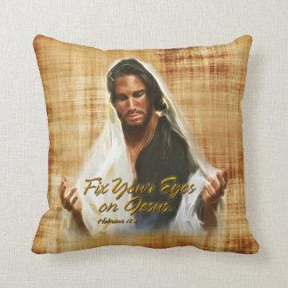 イエス・キリストの枕のあなたの目を修理して下さい クッション
