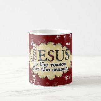 イエス・キリストの理由の季節のクリスマスのコップのマグ コーヒーマグカップ