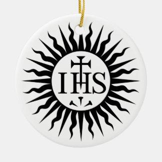 イエス・キリストの社会(イエズス会士)のロゴ セラミックオーナメント