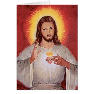 イエス・キリストの神聖なハート カード
