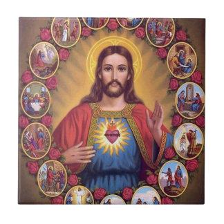 イエス・キリストの神聖なハート タイル