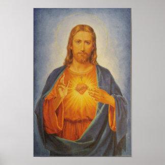 イエス・キリストの神聖なハート ポスター