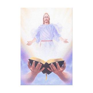 イエス・キリストの聖書のキャンバスプリント キャンバスプリント
