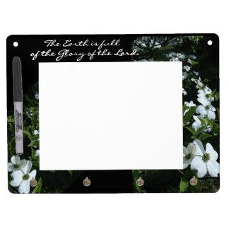 イエス・キリストの花のホワイトボード キーホルダーフック付きホワイトボード
