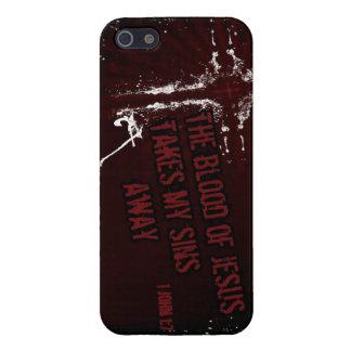 イエス・キリストの血は私の罪に遠くになiPhoneの場合を取ります iPhone 5 カバー