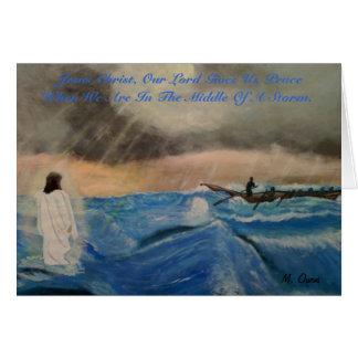 イエス・キリストのGives Us私達の主平和 カード