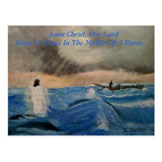 イエス・キリストのGives Us私達の主平和 ポストカード