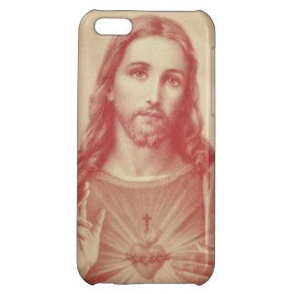 イエス・キリストのiPhoneの場合のヴィンテージの神聖なハート iPhone5Cカバー