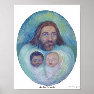 イエス・キリストはあなたおよび私を愛します ポスター