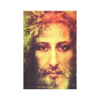 イエス・キリストはキャンバスに直面します キャンバスプリント
