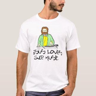 イエス・キリストはダンス音楽を愛します Tシャツ