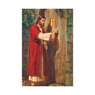 イエス・キリストはドアでたたきます キャンバスプリント