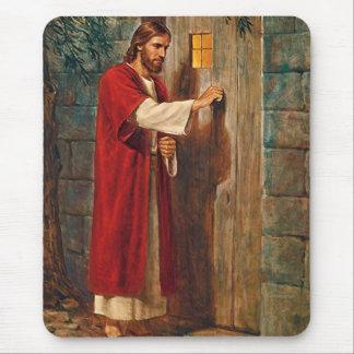 イエス・キリストはドアでたたきます マウスパッド