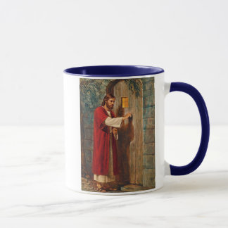 イエス・キリストはドアでたたきます マグカップ
