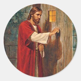 イエス・キリストはドアでたたきます ラウンドシール