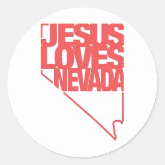 イエス・キリストはネバダを愛します ラウンドシール