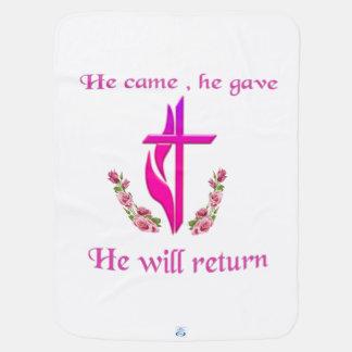 イエス・キリストはプロダクトを戻します ベビー ブランケット