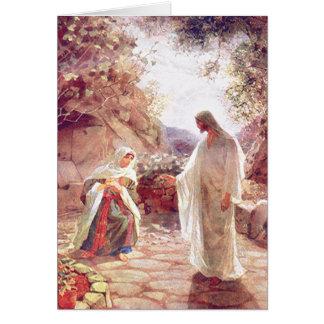 イエス・キリストはマグダラのマリアに現われます カード